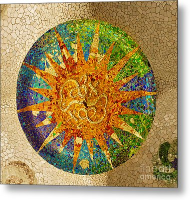 park Guell, Barcelona, Spain Metal Print
