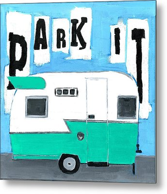 Park It-aqua Metal Print