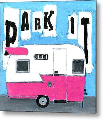 Park It- Pink Metal Print