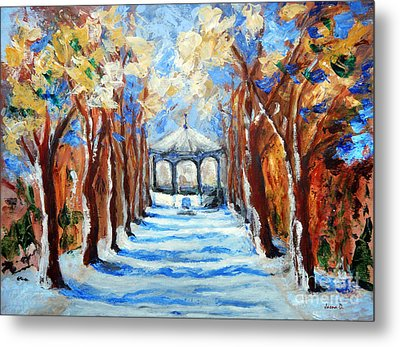 Park Zrinjevac Metal Print by Jasna Dragun