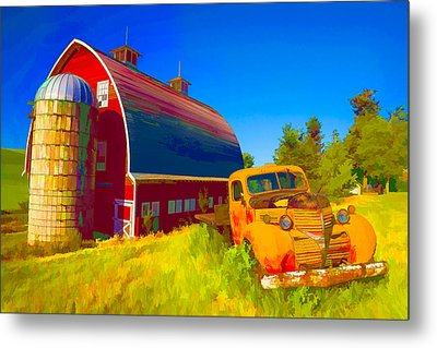Parked In Front  II Metal Print by Jon Glaser