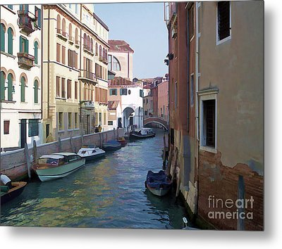 Metal Print featuring the photograph Parked In Venice by Roberta Byram