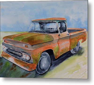 Parker's Farm Pick Up Metal Print