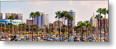 Parking And Palms In Long Beach Metal Print by Bob Winberry