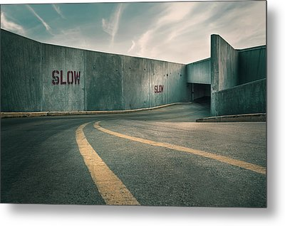 Parking Garage At The End Of The World Metal Print