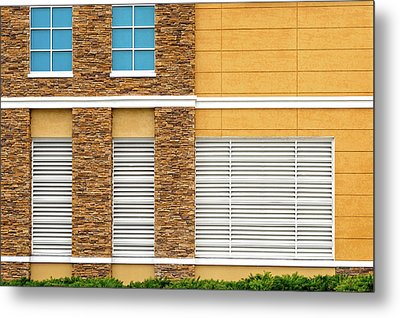 Metal Print featuring the photograph Parking Garage Vent Wall Detail by Frank J Benz