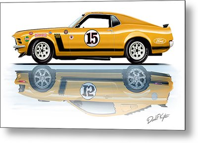 Parnelli Jones Trans Am Mustang Metal Print by David Kyte