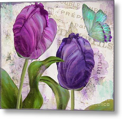 Parrot Tulips Metal Print by Mindy Sommers