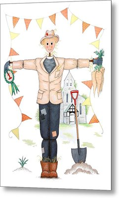 Parson Scarecrow Metal Print by Sandra Moore