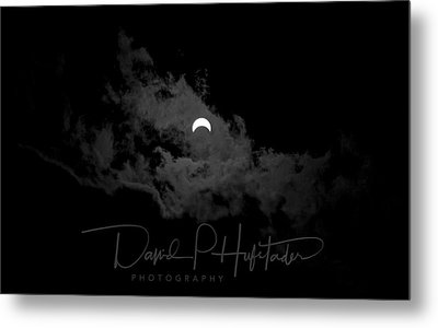 Partial Eclipse, Signed. Metal Print