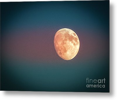Partial Moon Metal Print by Claudia M Photography