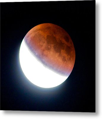 Metal Print featuring the photograph Partial Super Moon Lunar Eclipse by Todd Kreuter