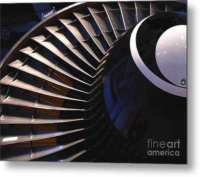 Partial View Of Jet Engine Metal Print by Yali Shi