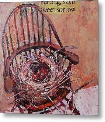 Metal Print featuring the painting Parting Is Such Sweet Sorrow by Tilly Strauss