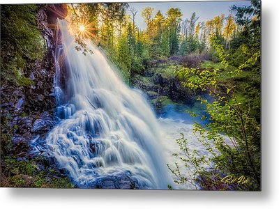 Metal Print featuring the photograph Partridge Falls In Late Afternoon by Rikk Flohr