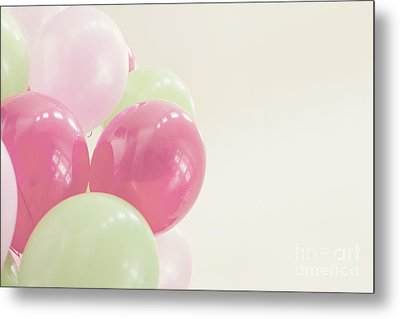 Party Balloons Metal Print