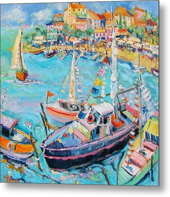 Party Boats Metal Print by Sharon Furner