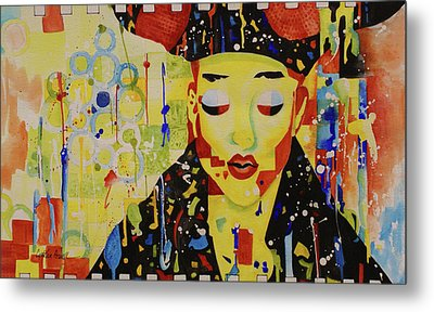 Metal Print featuring the painting Party Girl by Cynthia Powell