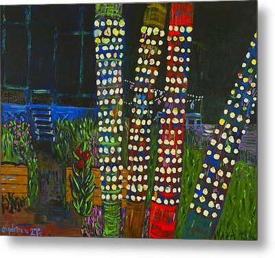 Metal Print featuring the painting Party Lights I by Angela Annas
