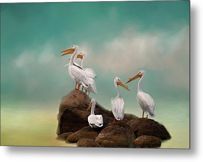 Metal Print featuring the photograph Party On The Rocks by Lana Trussell