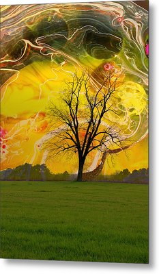 Party Skies Metal Print by Jan Amiss Photography