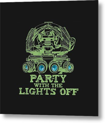 Metal Print featuring the mixed media Party With The Lights Off by TortureLord Art