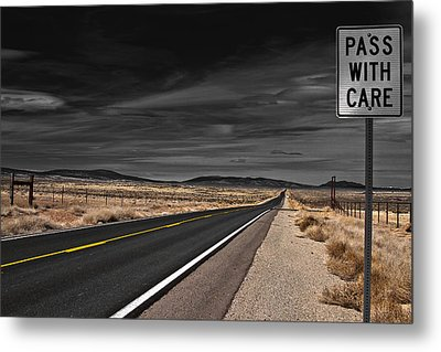 Pass With Care Metal Print