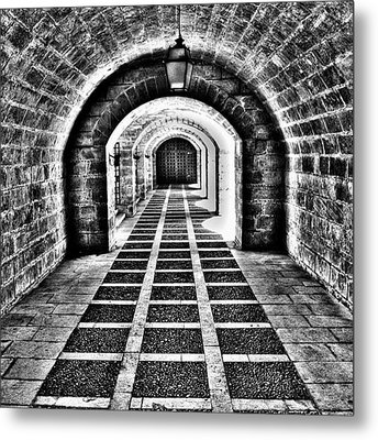 Passage, La Seu, Palma De Metal Print by John Edwards