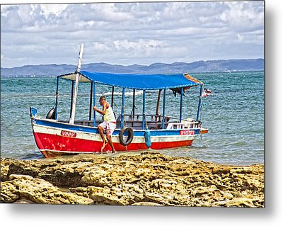 Metal Print featuring the photograph Passenger Boat by Kim Wilson