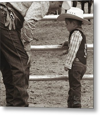 Passing On The Wisdom Metal Print