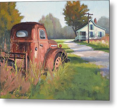 Passing Through Red Oak Metal Print by Todd Baxter