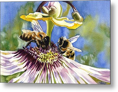 Passionate Bee Metal Print by Alfred Ng