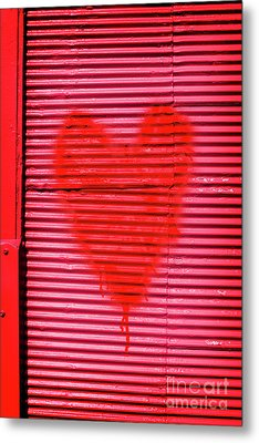 Passionate Red Heart For A Valentine Love Metal Print