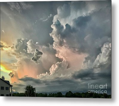 Pastel Clouds Metal Print by Walt Foegelle