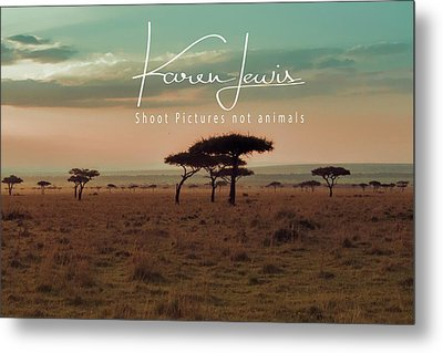 Metal Print featuring the photograph Pastel Dawn On The Mara by Karen Lewis