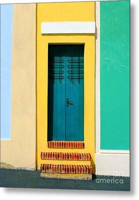 Pastel Doorway Metal Print by Perry Webster