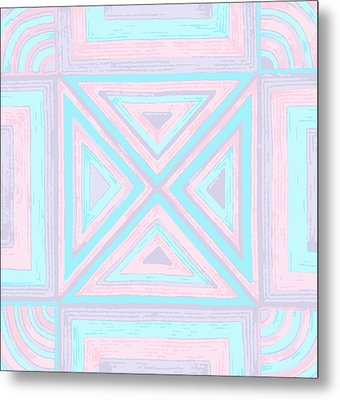 Metal Print featuring the drawing Pastel Patchwork by Jill Lenzmeier