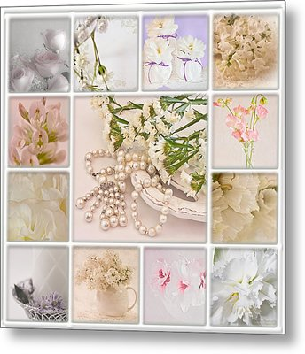 Pastel Photo Collage  Metal Print by Sandra Foster