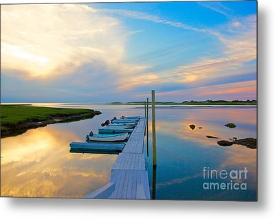 Pastel Reflections On Cape Cod Metal Print by Amazing Jules
