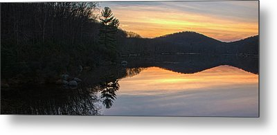 Pastel Reflections With Pine Tree Metal Print