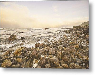 Pastel Sea Landscape Metal Print