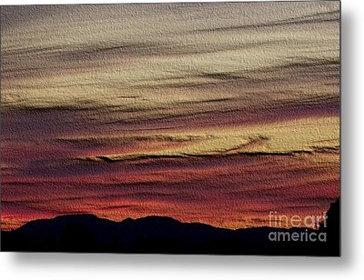 Metal Print featuring the photograph Pastel Sunset - Embossed by Erica Hanel