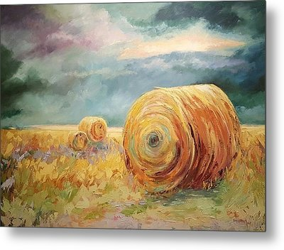 Pasture Ornament Metal Print by Ginger Concepcion