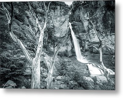 Metal Print featuring the photograph Patagonian Waterfall by Andrew Matwijec