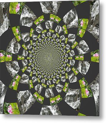Metal Print featuring the digital art Patch These Falls by Amanda Eberly-Kudamik