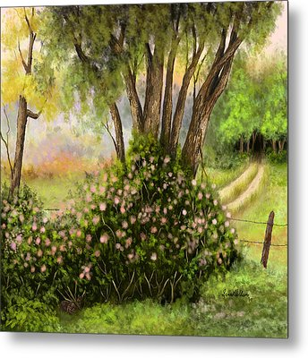 Metal Print featuring the painting Patches Of Beauty by Sena Wilson