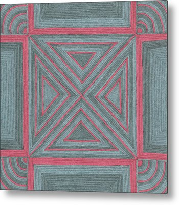 Metal Print featuring the drawing Patchwork by Jill Lenzmeier