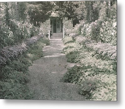 Path In Monet's Garden At Giverny Metal Print