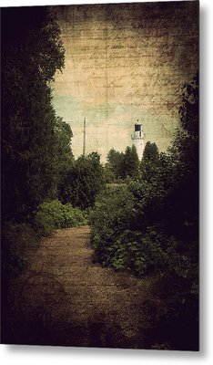 Metal Print featuring the photograph Path To Cana Island Lighthouse by Joel Witmeyer