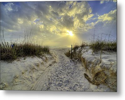 Path To Panama City Beach Metal Print by JC Findley